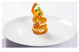 Fritto misto din crevete Tiger, calamari zucca in tempura