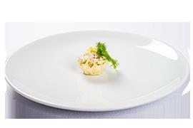 Cosulet de parmezan cu salata de pui
